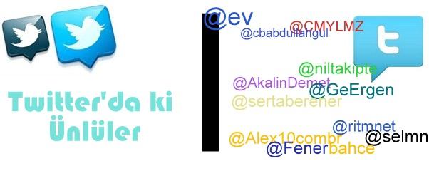 Twitterda bulunan ünlüler