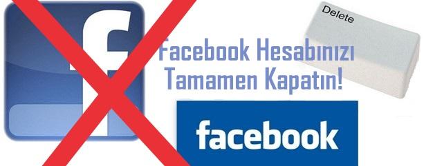 Facebook Hesap Kapatma