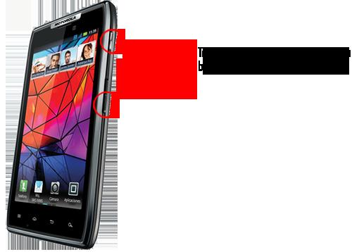 Motorola RAZR XT910 Ekran Görüntüsü Alma