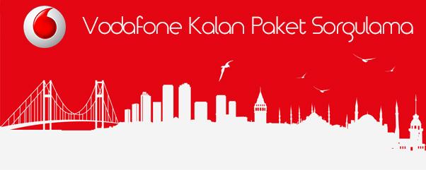 Vodafone Kalan Paket Sorgulama