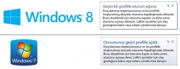 Windows 7 & Windows 8 Geçici Profil Sorunu